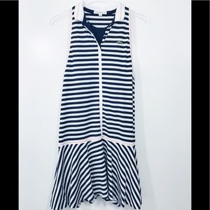 Rare Lacoste Sport Striped Preppy Tennis Dress